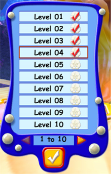 Level Selection Menu