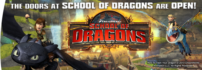 Play School of Dragons - Play Online Dragon Game for Kids
