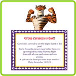 Circus Zaragoza is Back – Printable Third Grade English Worksheet