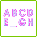 Missing in Action - Free Preschool Alphabet Worksheet