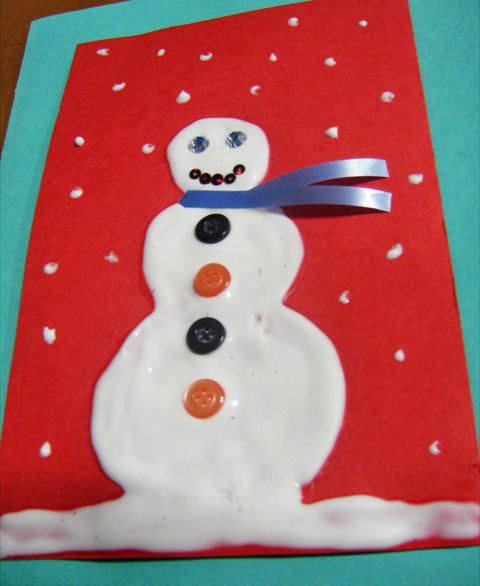 3-D Snowman Greeting Card