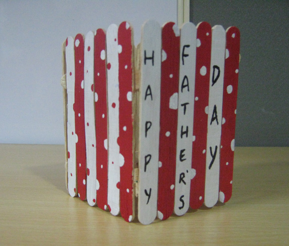 Pen Holder Craft for Father's Day