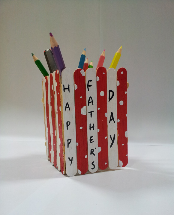 Pen Holder Father's Day Craft for Kids