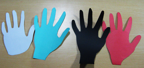 Holding Hands - Martin Luther King Day Crafts