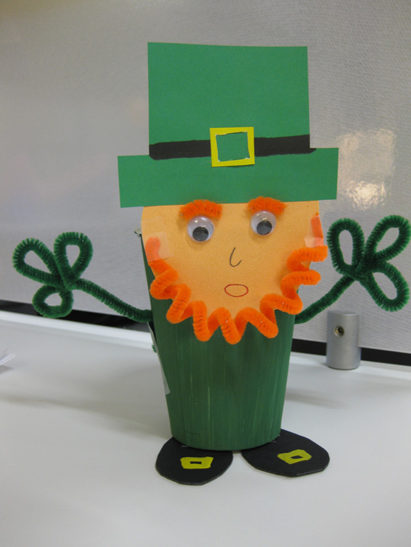 St Patricks Day Leprechaun Cup Craft