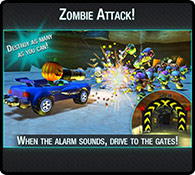 Zombie Attack - Online Racing Game - Eat My Dust