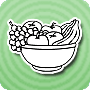 A Bowl of Fruit - Nature Coloring Page Online