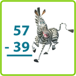 Borrow from Melman – Printable Second Grade Subtraction Worksheet