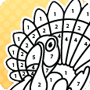 Thanksgiving Worksheet - Coloring the Turkey by Numbers