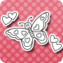 Flying Hearts - Easy Fun Valentine's Day Coloring Page