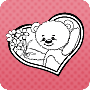 Valentine's Day Teddy - Free Online Coloring Page for Valentine's Day