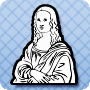 Who Drew Mona Lisa - Free history worksheet with coloring