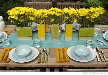 Easy And Bright Spring Table Settings