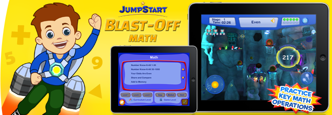 JumpStart Blast-Off - Math Mobile App
