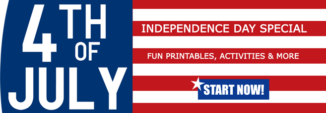 Fourth of July Banner - Printables for Kids