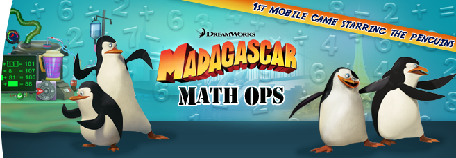 Madagascar Math Ops - Mobile App for Kids