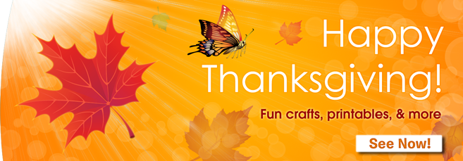 Thanksgiving Banner - Printables for Kids