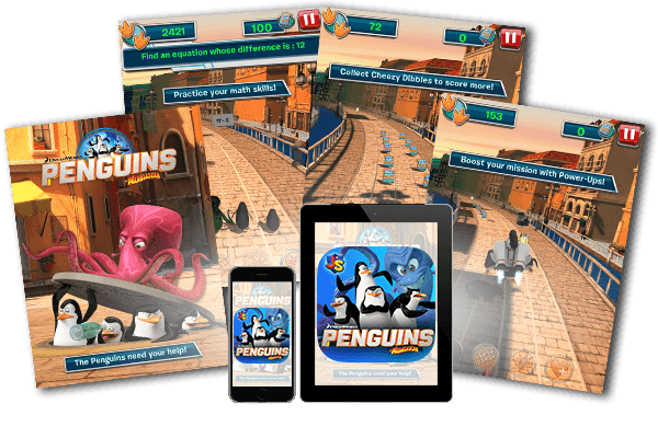 Penguins of Madagascar: Dibble Dash - Penguins Game