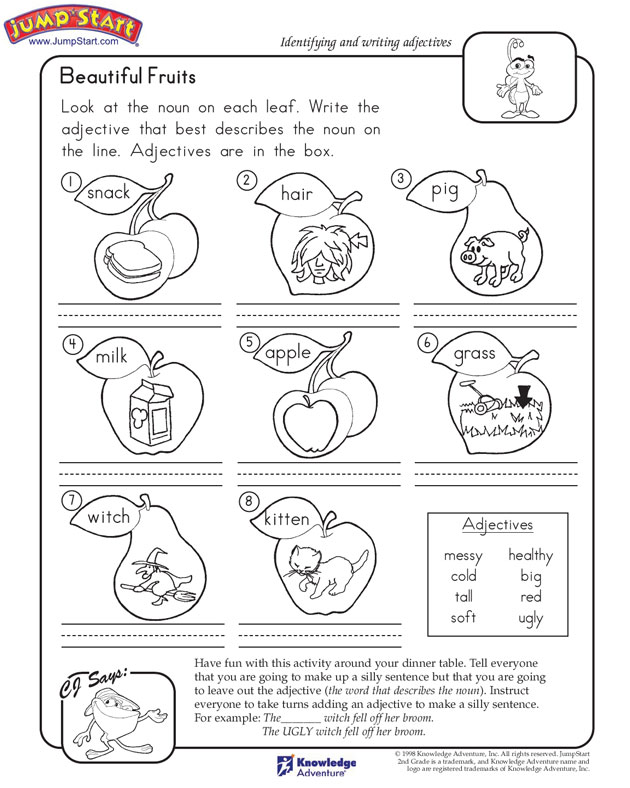 ... Beautiful Fruits Nd Grade English Worksheets Jumpstart Images - Frompo
