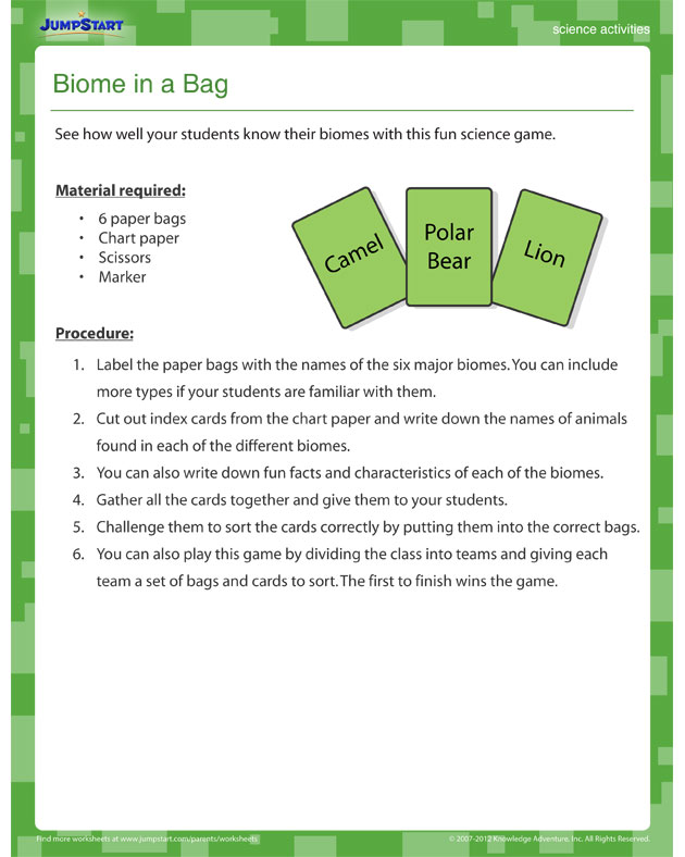 Biome in a Bag View u2013 Fun Science Activity for Fifth Grade ...