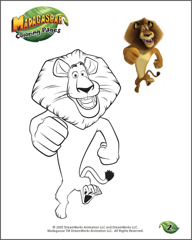 how to draw alex the lion from madagascar