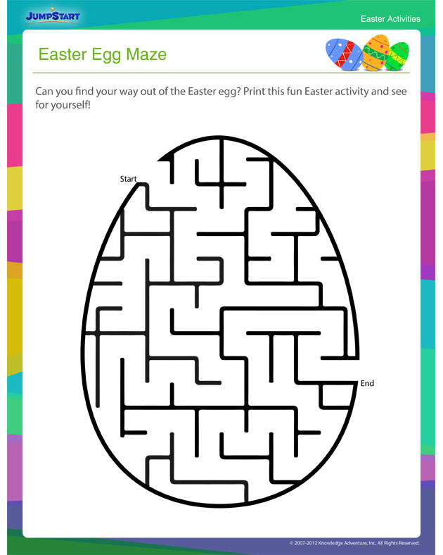 Check out 'Easter Egg Maze' - Free Online Easter Activity for Kids