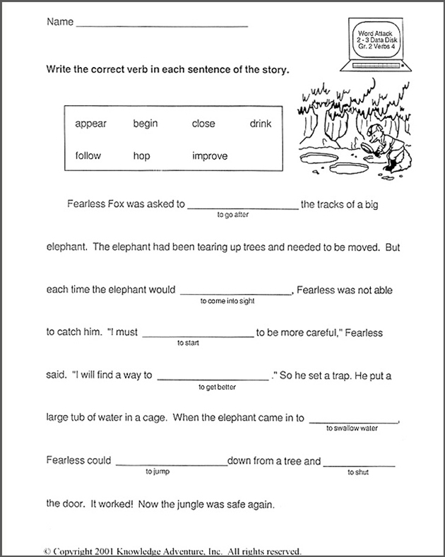 Free reading and writing worksheets for 2nd grade