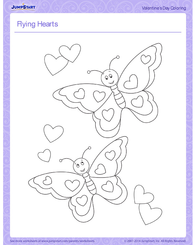 Check out 'Flying Hearts' - Free Valentine's Day Coloring Page