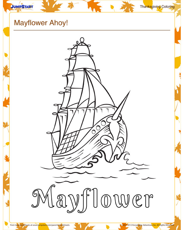 mayflower coloring pages for preschool - photo#26