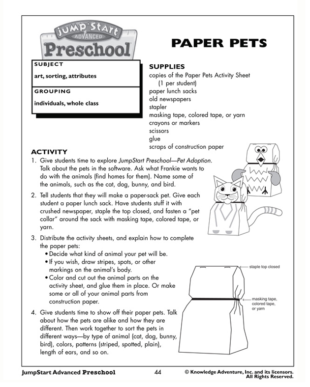 paper pets fun free craft activities for preschool jumpstart preschool crafts kids 630x821