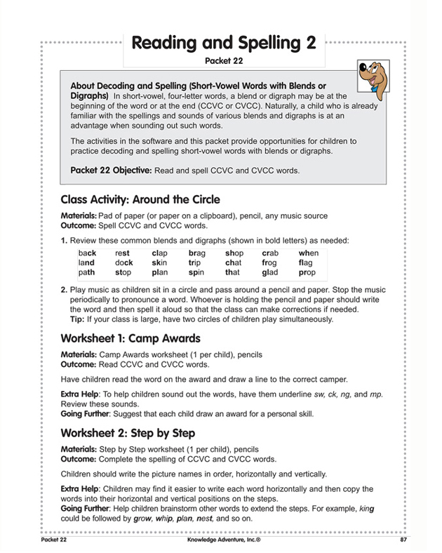 Free worksheets for 3rd graders reading