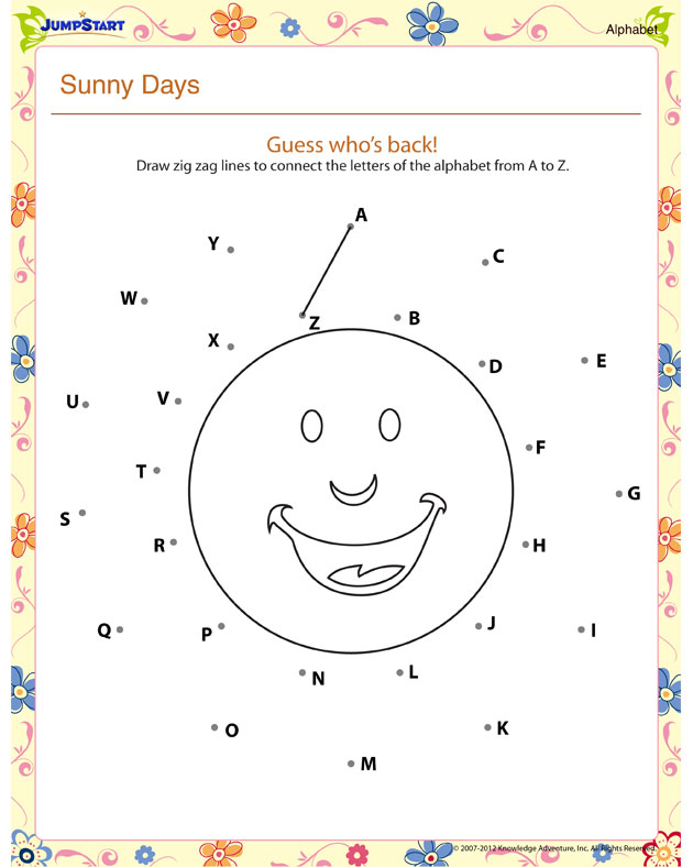 Check out 'Sunny Days', our free english worksheet for kids! You can ...
