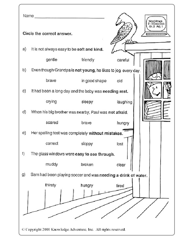 Worksheets Grade 3 English Worksheets test your word power 3 2 free vocabulary practice for 8 year english worksheet grade jumpstart