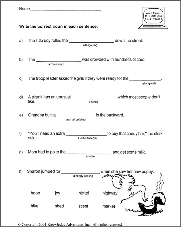 6th grade vocabulary worksheets pdf