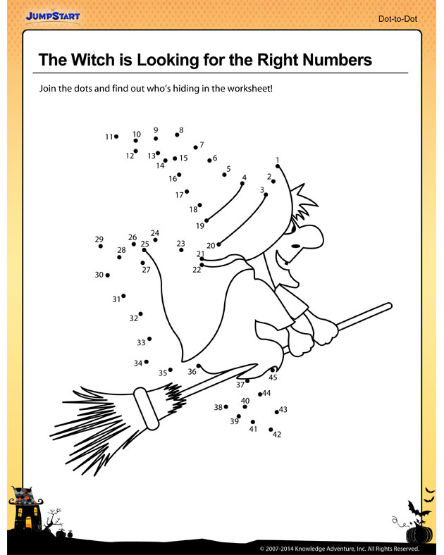 the witch is looking for the right numbers worksheet