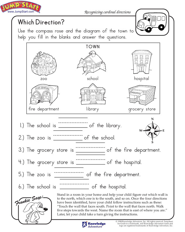 Direction English Worksheet