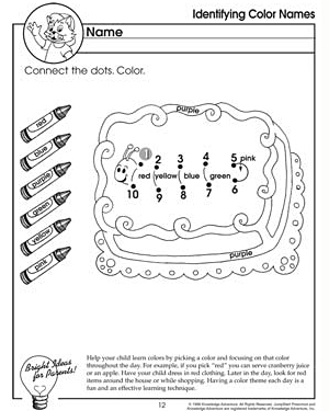 Identifying Color Names – Preschool Color Worksheet - JumpStart