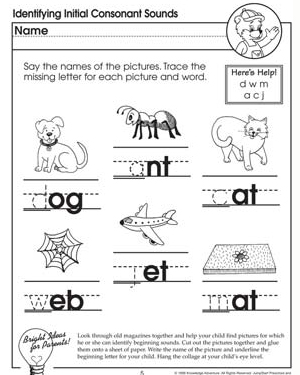 math worksheet : identifying initial consonant sounds missing letters  letter  : Beginning Sound Worksheets For Kindergarten