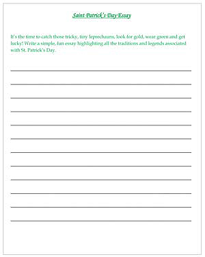 essay writing for kids worksheet