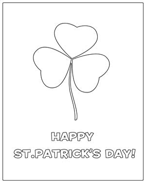 Color the Shamrock - Free Coloring Worksheet for Kindergarten