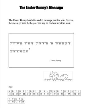 The Easter Bunny's Message - Free Easter Worksheet for Kids