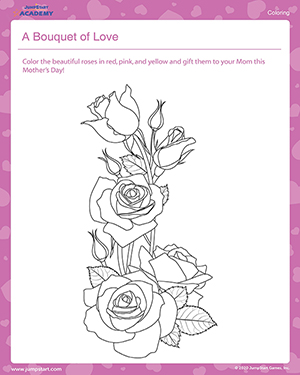A Bouquet of Love – Mother's Day Coloring Pages for Kids