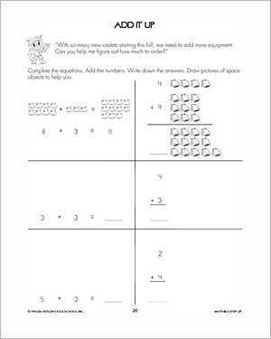 Add It Up - Addition Worksheet for Kids