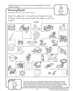 Amazing Blends – Fun Reading Worksheets for 2nd Grade ...