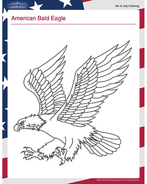 american bald eagle independence day worksheets - American Bald Eagle Coloring Page