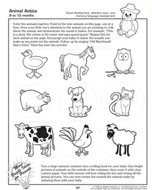 animal antics free and fun activities for babies - Printable Activity