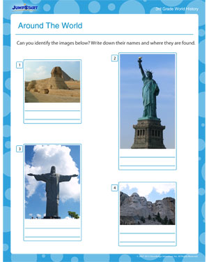 Around The World – Free World History Printables and Worksheets ...