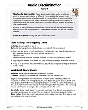 Audio Discrimination - Free Reading Worksheet for Kids