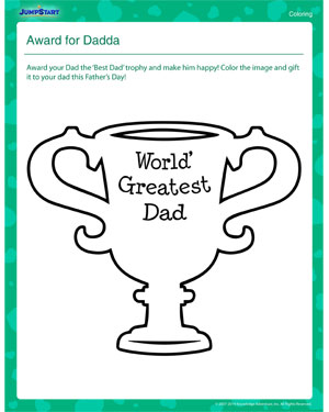 Award for Dadda – Father's Day Worksheet