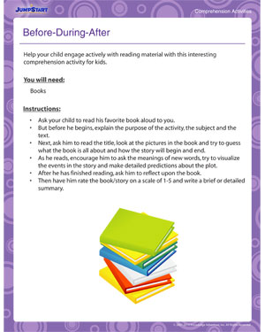 Before-During-After - Printable Comprehension Activity for Children